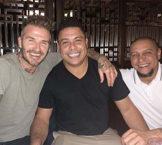 Ba cựu danh thủ ở độ tuổi ngoài 40 gặp lại