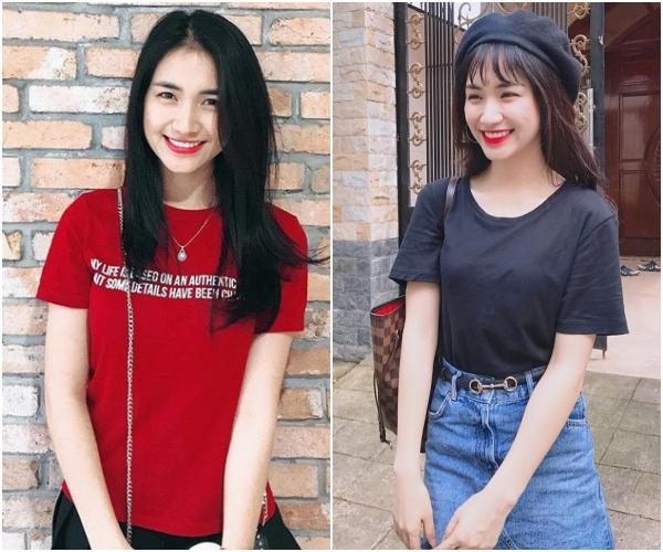 Hoà Minzy cũng thay đổi kiểu tóc trong dịp năm mới. Cô nhuộm tóc nâu đỏ và đổi sang mái bằng lưa thưa thay cho tóc rẽ ngôi giữa.
