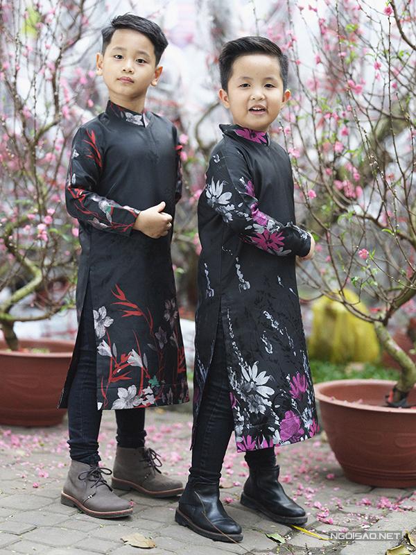 Mẫu nhí diện áo dài rạng rỡ trong vườn hoa xuân - ảnh 9