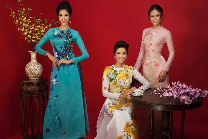HHen Niê cùng Á hậu Hoàng Thùy, Mâu Thủy rạng rỡ trong bộ ảnh Tết - 2