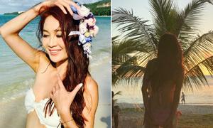 Ôn Bích Hà khoe trọn vẹn vẻ sexy khi tới Bali đón Valentine