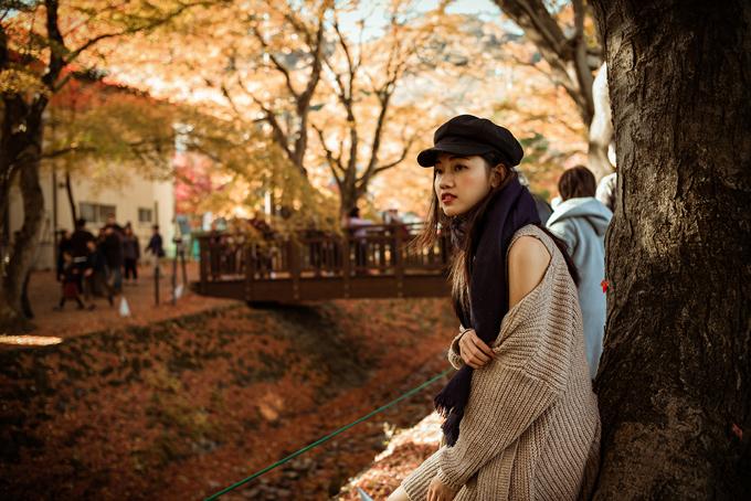 Á hậu cao nhất Việt Nam trễ nải vai trần ở Nhật Bản - ảnh 4
