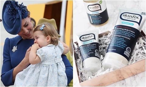 Công nương Kate dưỡng da tay cho cả hai mẹ con bằng tuýp kem 18 USD