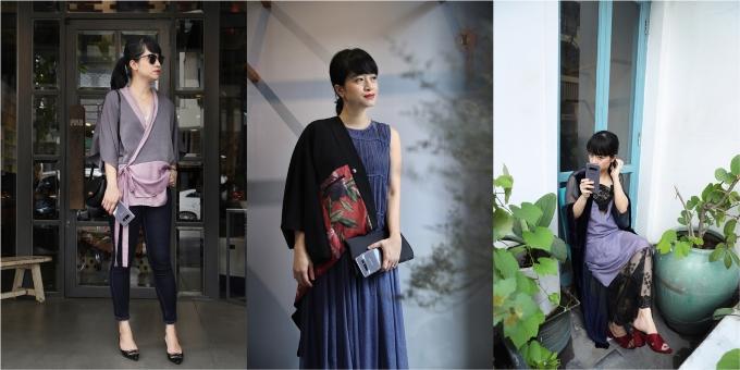 Mix đồ thời thượng cùng sắc tím như các fashionista Việt - ảnh 2