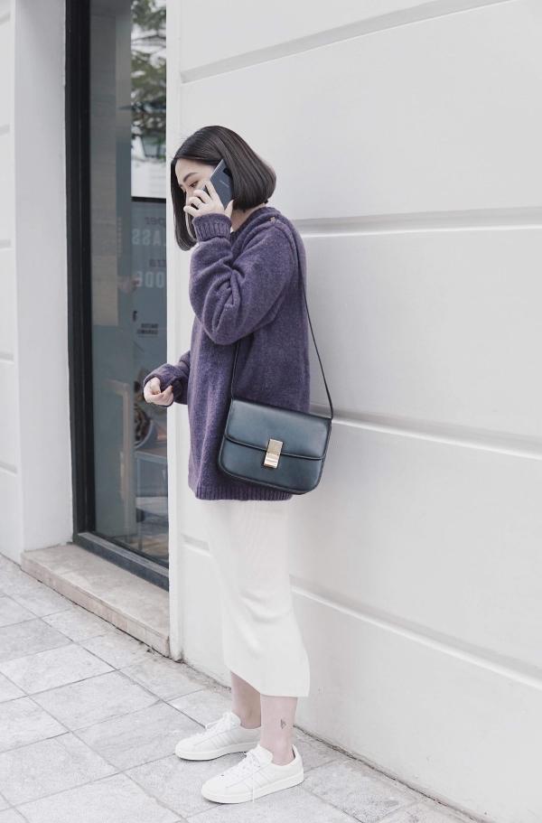 Trang phục phù hợp với những ngày tiết trời se lạnh.
