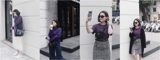 Mix đồ thời thượng cùng sắc tím như các fashionista Việt - ảnh 1
