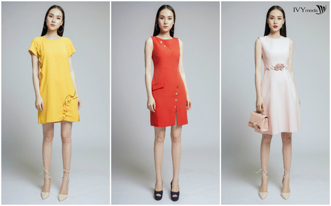 Các mẫu váy liền, tôn dáng, sắc màu tươi tắn cùng họa tiết nhấn nhá độc đáo đem đến lựa chọn mới mẻ cho những ngày đầu năm.