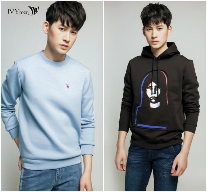 Phái mạnh sẽ thêm trẻ trung với các mẫu sweater.