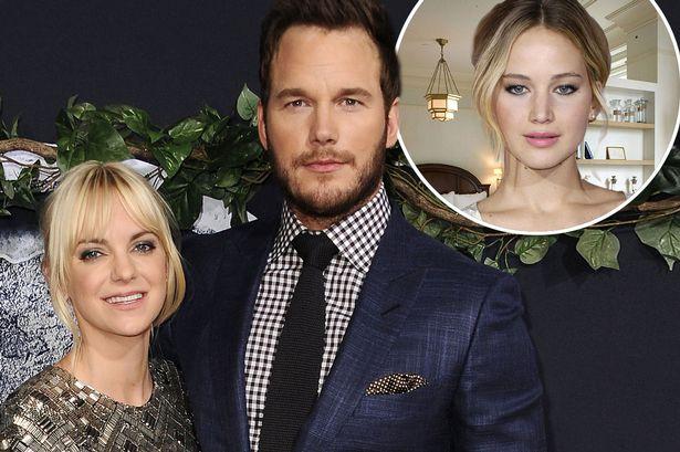 Jennifer Lawrence từng bị cho là kẻ thứ 3 phá hoại hôn nhân của Chris Pratt và Anna Faris.