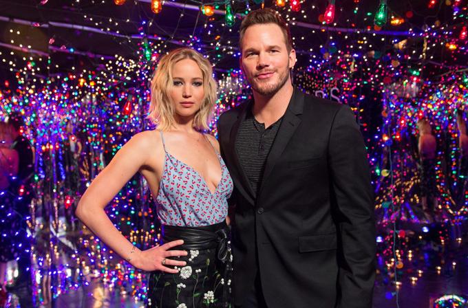 Jennifer và Chris Pratt khi đi quảng bá phim.