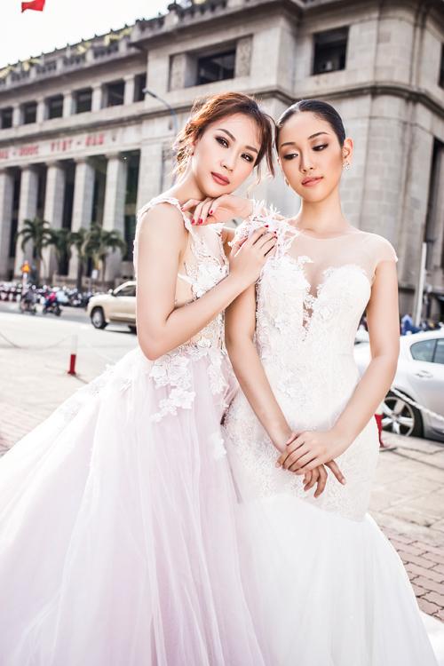 Một điểm dễ nhận thấy trong xu hướng váy cưới thời gian gần đây là tiết chế những đường cắt cúp táo bạo. Thay vào đó là các mẫu váy kín đáo, thanh lịch và sang trọng.