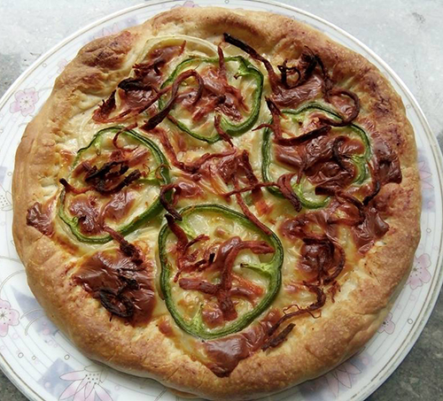 Pizza làm tại nhà thành phẩm. Ảnh: Điệp Vũ