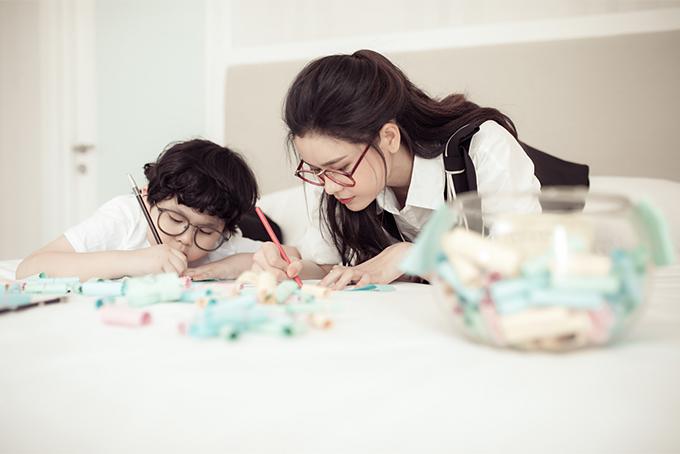 Đời thường đáng yêu của mẹ con Trương Quỳnh Anh - 8
