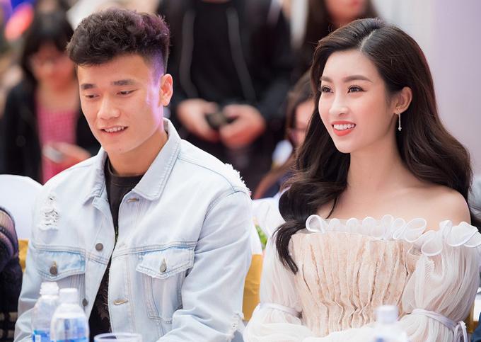 Thủ môn người Thanh Hóa và Hoa hậu Việt Nam là khách mời trong một sự kiện ở thủ đô.