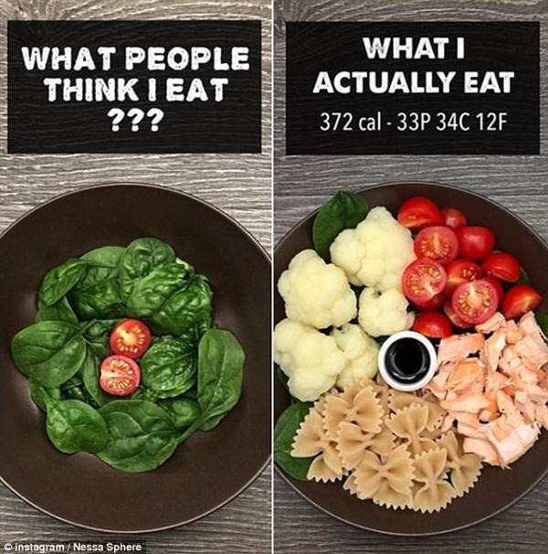 Nessa phát hiện ra rằng, dù khẩu phần ăn chứa ít calories nhưng lại không mang đủ giá trị dinh dưỡng cần thiết nên