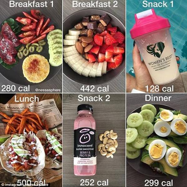 Giảng viên yêu cầu Nessa ăn nhiều bữa hơn trong ngày, mỗi bữa cách nhau từ 3 - 4 giờ, mỗi bữa đều ăn đủ các nhóm thực phẩm gồm chất xơ, protein, ngũ cốc nguyên hạt và chất béo lành mạnh.