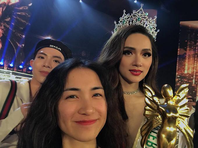 Hoà Minzy và Erik sang Thái cổ vũ nhiệt tình cho Tân hoa hậu chuyển giới quốc tế Hương Giang.