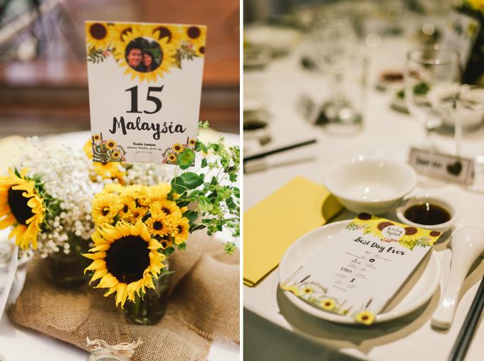 Mỗi bàn đều được đánh số thứ tự để khách mời dễ dàng tìm được chỗ ngồi cho mình.