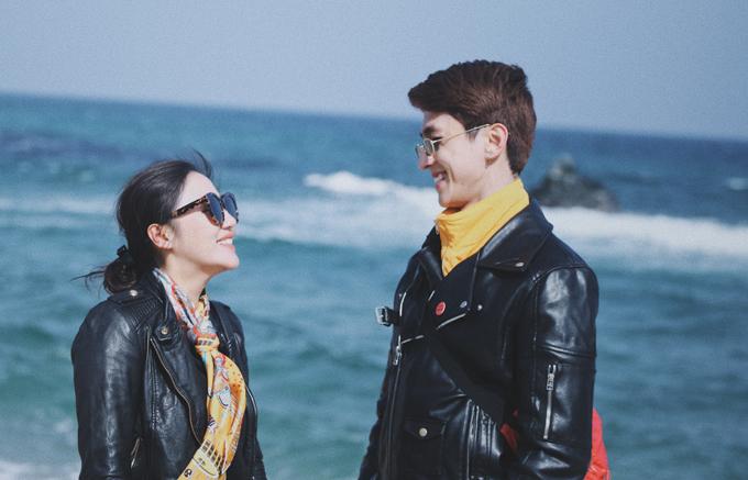 Văn Mai Hương mặc đồ đôi, tình tứ bên Bình An ở Hàn Quốc - 2