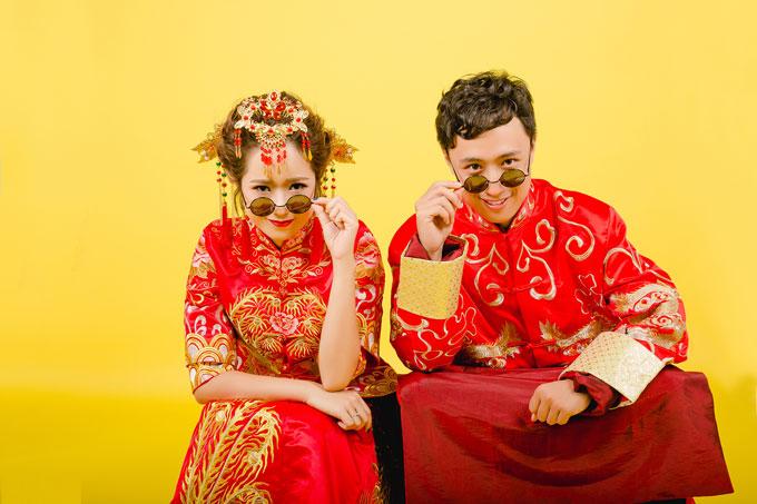 Dâu Việt, rể Trung quậy tưng khi chụp ảnh cưới - 2