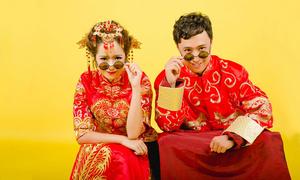 Dâu Việt, rể Trung 'quậy tưng' khi chụp ảnh cưới
