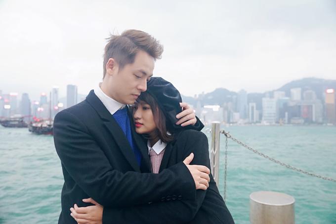 Đăng Khôi tình cảm với em gái mưa Thanh Vy ở Hong Kong - 3