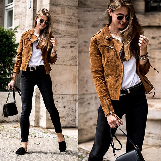 Để hình ảnh và phong cách thời trang của mình tránh được sự đơn điệu, chị em văn phòng nênchọn thêm áo khoác có tông màu bắt mắt khi diện nguyên set đồ trắng đen.