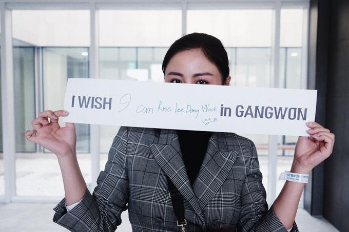 Giọng ca Ngày chung đôi bày tỏ ước muốn được hôn ngôi sao phim Yêu tinh tại Gangwon.