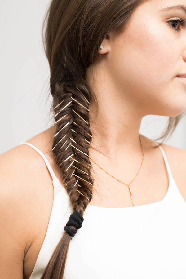 Cặp tăm vào từng múi tóc là cách biến tấu cá tính