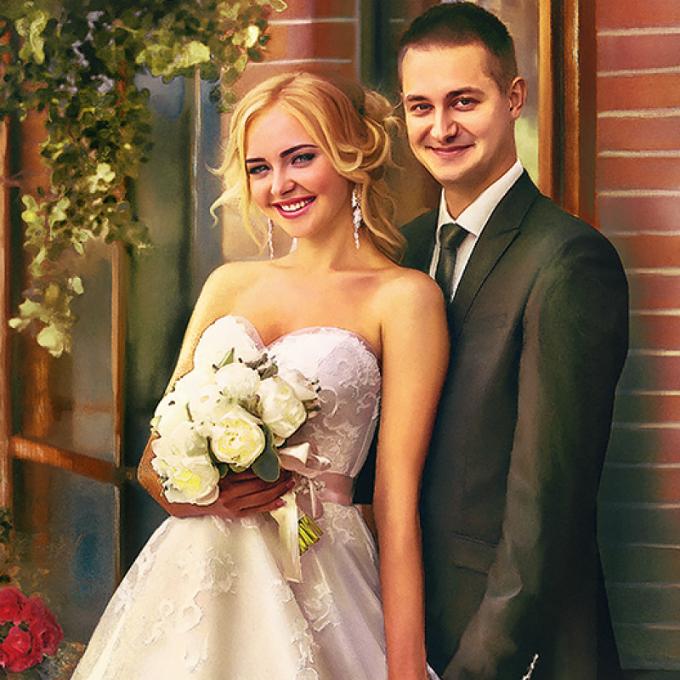 Ảnh cưới Digital painting: Vừa nghệ thuật lại không đụng hàng - 6