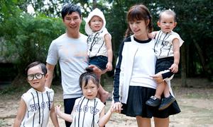 Vợ Lý Hải đưa 4 con lên Tây Nguyên xem chồng làm phim