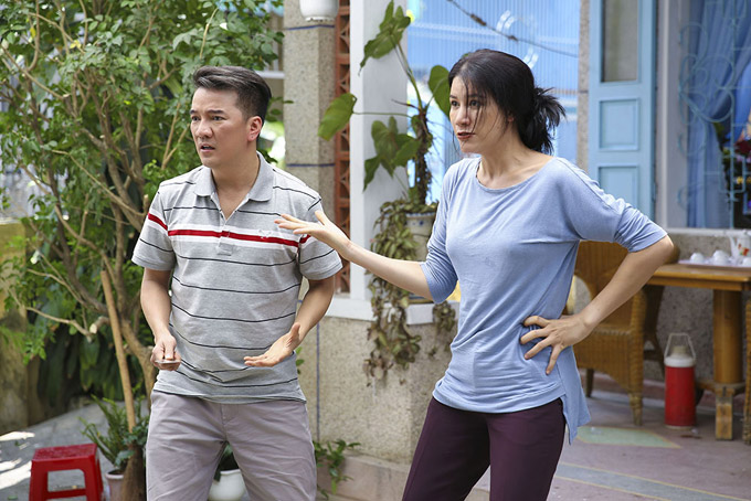 Hoài Lâm sợ chết khiếp trước mẹ vợ Trang Trần trong phim mới - 5