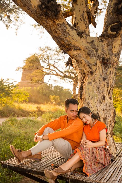 Uyên ương chạy đua cùng mặt trời khi chụp ảnh cưới ở Bagan - 13