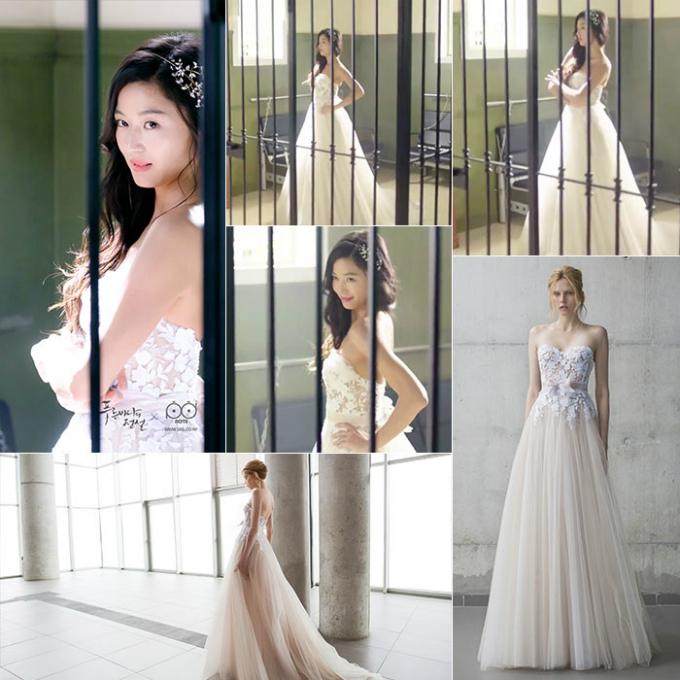 10 chiếc váy cưới hàng hiệu được sao Hàn lăng xê trên phim