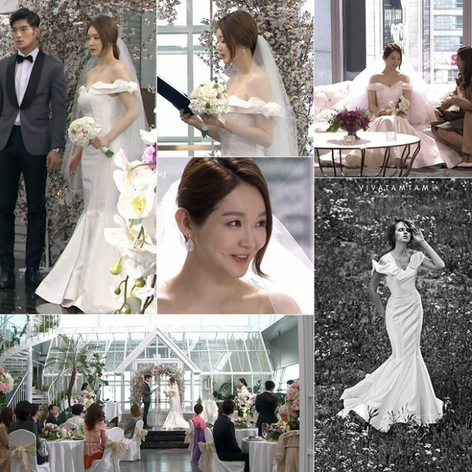 10 chiếc váy cưới hàng hiệu được sao Hàn lăng xê trên phim - 5