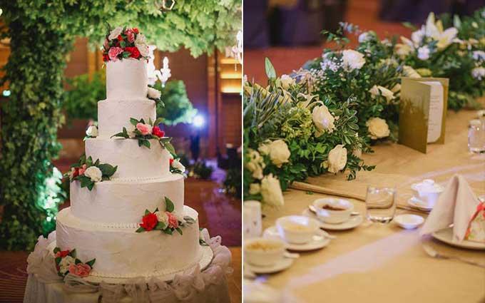 Cả hai chọn chủ đề Khu rừng cho hôn lễ của mình với tông chủ đạo là màu xanh tượng trưng cho mầm sống, sự sinh sôi nảy nở.