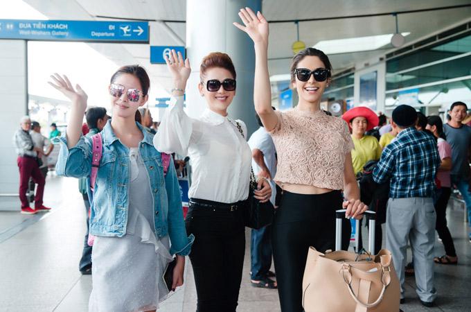 Lâm Khánh Chi ăn mặc kín đáo, tự tin đua sắc cùng hai mỹ nhân chuyển giới của Brazil và Thái Lan.