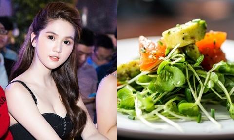 Ngọc Trinh chia sẻ cách làm salad rau mầm giúp da đẹp tóc mượt