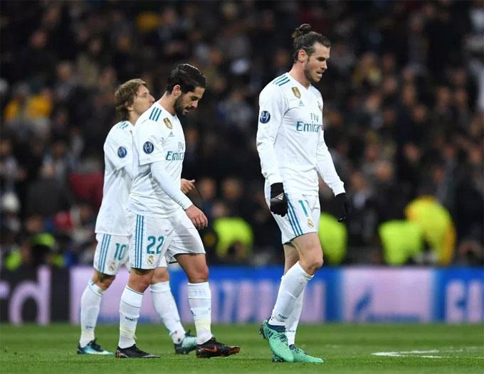 Bale và các đồng đội có hiệp một hoàn toàn lép vế.