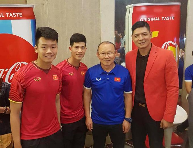 Bình Minh hội ngộ HLV Park Hang Seo cùng các cầu thủ U23: Đình Trọng - Thành Chung