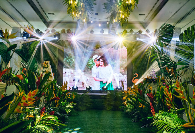 Tiệc cưới chủ đề Rừng nhiệt đới trong khách sạn 5 sao tại TP HCM - 5