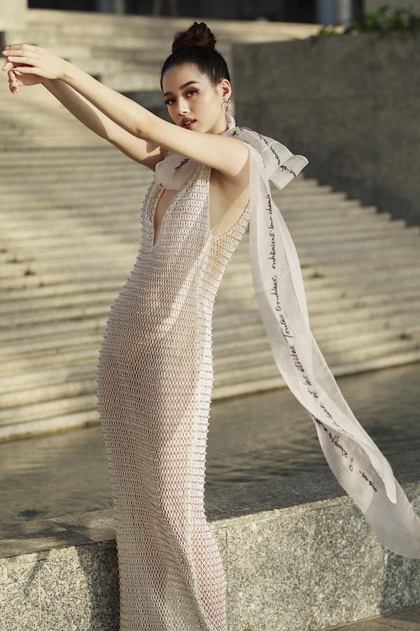 Khánh Linh The Face khoe dáng với váy áo xuyên thấu của Công Trí - 5