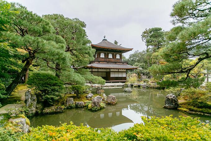 Ngôi đền Ginkakuji, phía ĐôngKyoto sở hữu vẻ đẹp trầm mặc, giản dị.
