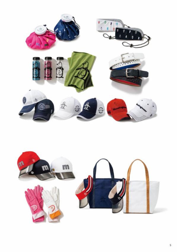 Ngoài ra, tại các showroom của Munsingwear, khách hàng có thểtìm thấyphụ kiện, mũ, ví, gang tay cho những bộ môn thể thao yêu thích.