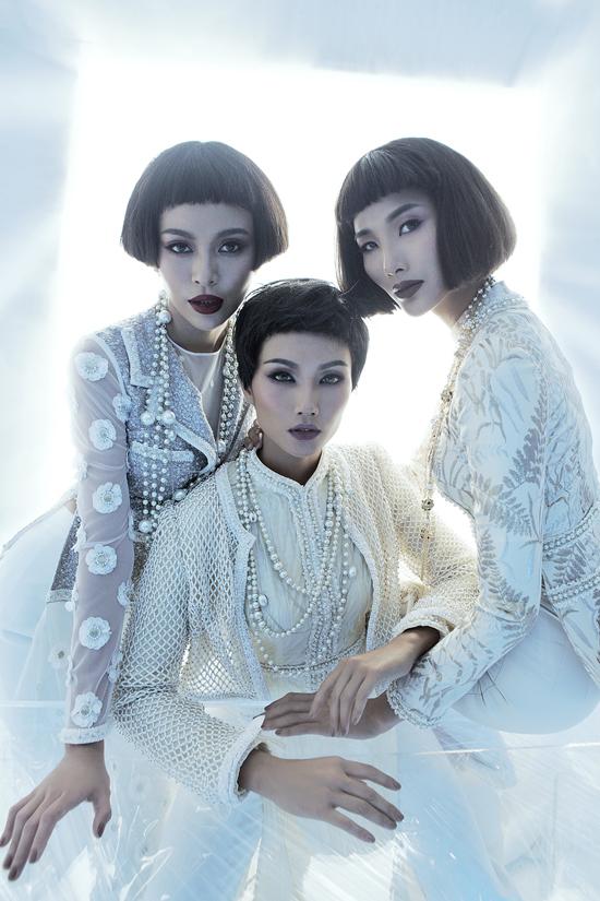 Top 3 Hoa hậu Hoàn Vũ VN 2017 cùng xuất hiện trong bộ ảnh quảng bá cho bộ sưu tập Coco yêu dấu của Công Trí.