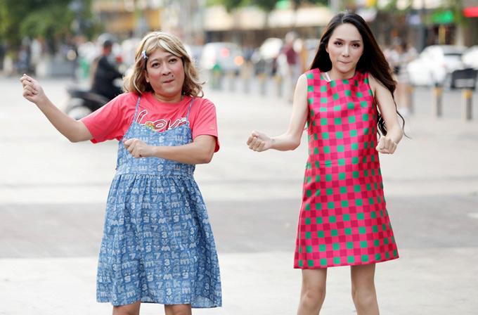 Hoa hậu chuyển giới Hương Giang sẽ kết đôi với nam diễn viên hài trong show Khi đàn ông mang bầu.