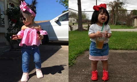 'Gia tài' quần áo hàng trăm bộ của bé gái 1 tuổi