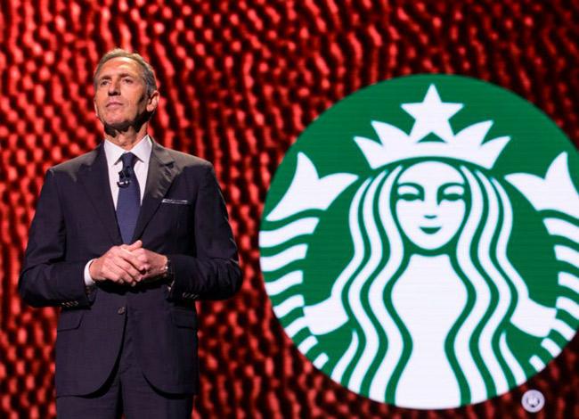 Howard Schultz là người đã đưa thương hiệu cafe Starbucks mở rộng toàn cầu - Ảnh:Bussiness ínsider