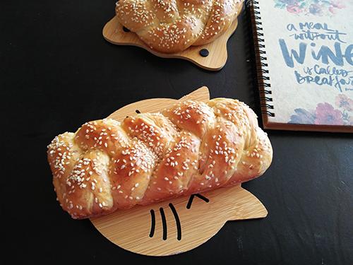 Món bánh mì hoa cúc thành phẩm. Ảnh: Violet cooking
