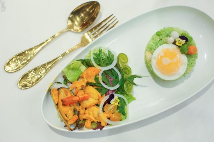 Mỗi món ăn trình bày bắt mắt, đảm bảo mọi tố về hương vị lẫn thị giác.